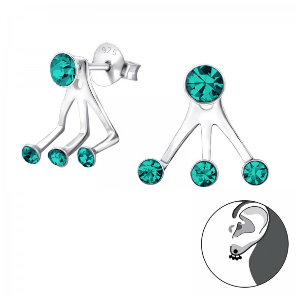 Ear Jackets & Double Earrings ES-04-BH3-JB7850/25668