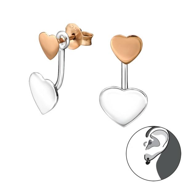 Ear Jackets & Double Earrings ES-APS1420-FL-RGP-APS2511-CCHT18-FL/31138