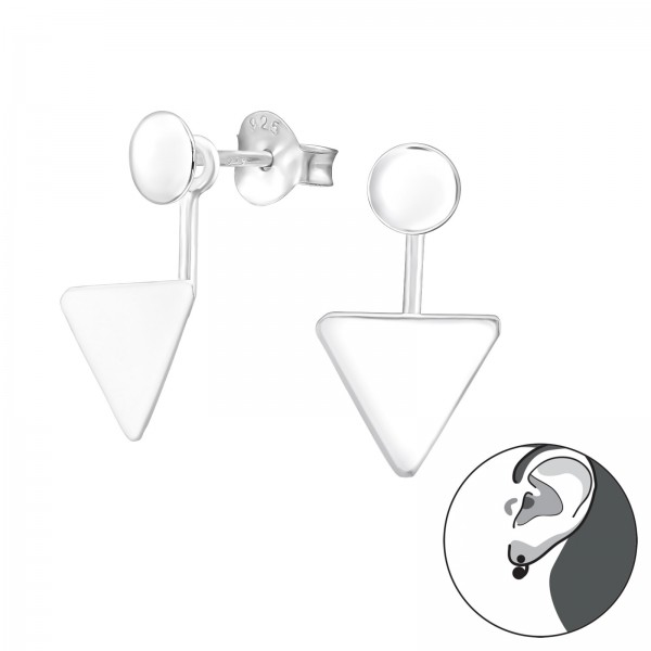 Ear Jackets & Double Earrings ES-APS1884-APS2511-CCTR42-FL/38113