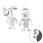 Silver Skeleton Ear Jacket, #24278
