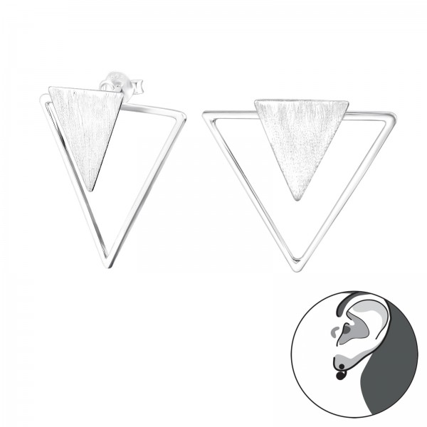 Ear Jackets & Double Earrings ES-APS2525-BR-APS2514/29140