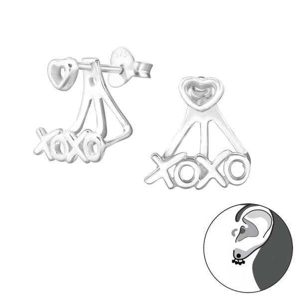 Ear Jackets & Double Earrings ES-JB6092-BH3-JB7966/24755