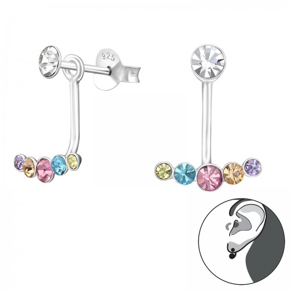 Ear Jackets & Double Earrings ES04-APS2511-APS3059 MIX/37173