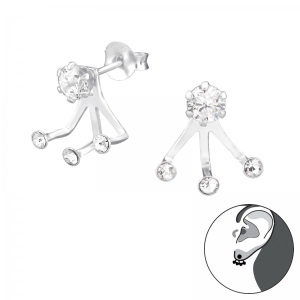 Ear Jackets & Double Earrings ESA-R4-6P-BH3-JB7850/36429