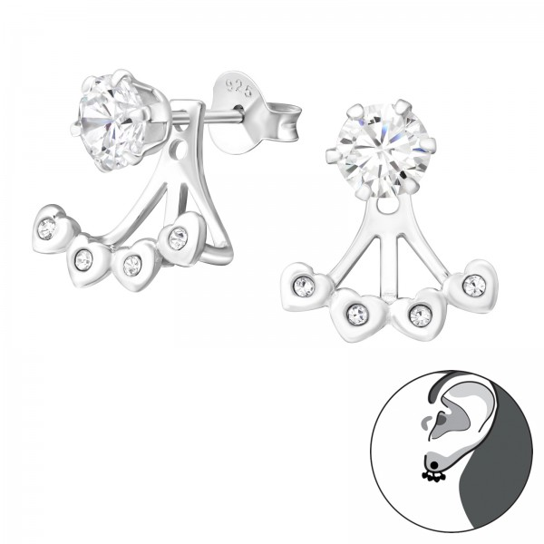 Ear Jackets & Double Earrings ESA-R5-6P-BH3-JB7829/37587