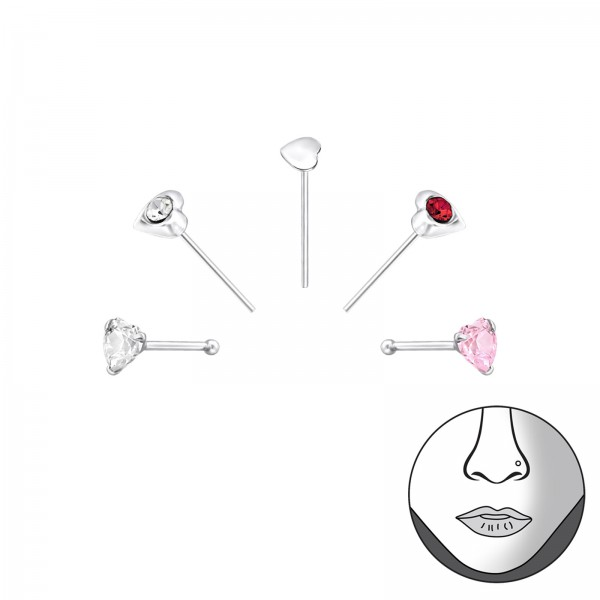 Nose Studs & Clips NS-HT-MIX/33352