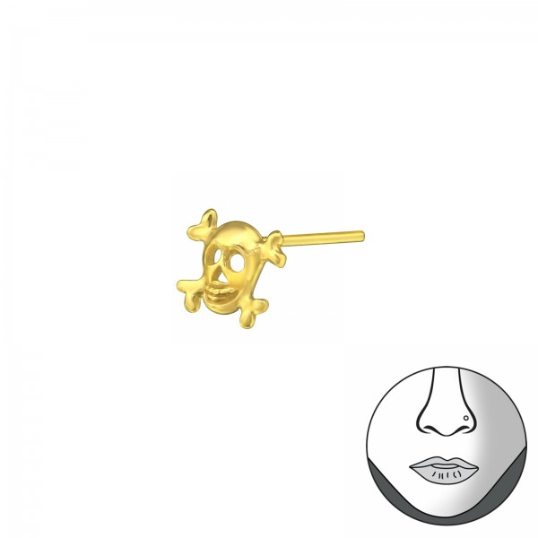 Nose Studs & Clips NS-SKULL-GP/33471