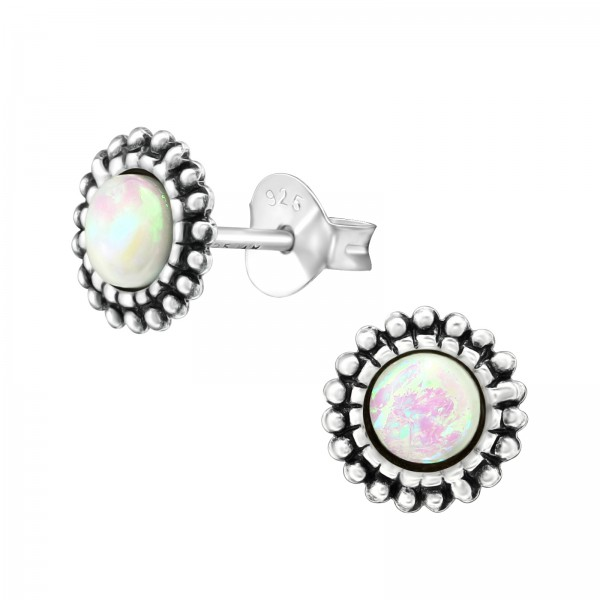 Opal and Semi Precious Ear Studs ES-APS2067-CNOP OX/38649