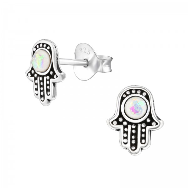 Opal and Semi Precious Ear Studs ES-APS2623-CNOP OX/37944