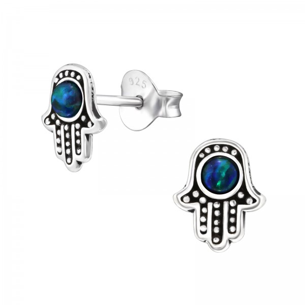 Opal and Semi Precious Ear Studs ES-APS2623 OX/35085