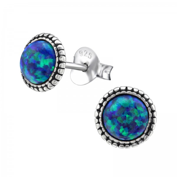 Opal and Semi Precious Ear Studs ES-JB7332 OX/29346