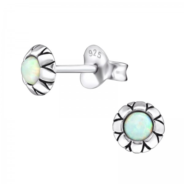 Opal and Semi Precious Ear Studs ES-JB7423-OX/27133