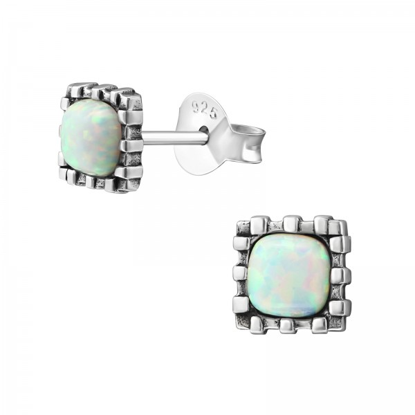 Opal and Semi Precious Ear Studs ES-JB7429 OX/23679
