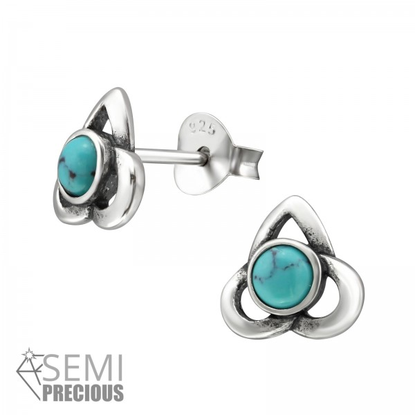 Opal and Semi Precious Ear Studs ES-JB9466-S OX/31237