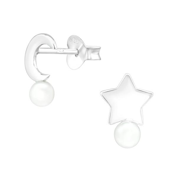 Pearl Ear Studs ES-APS4033-APS4070-PPL3/39991