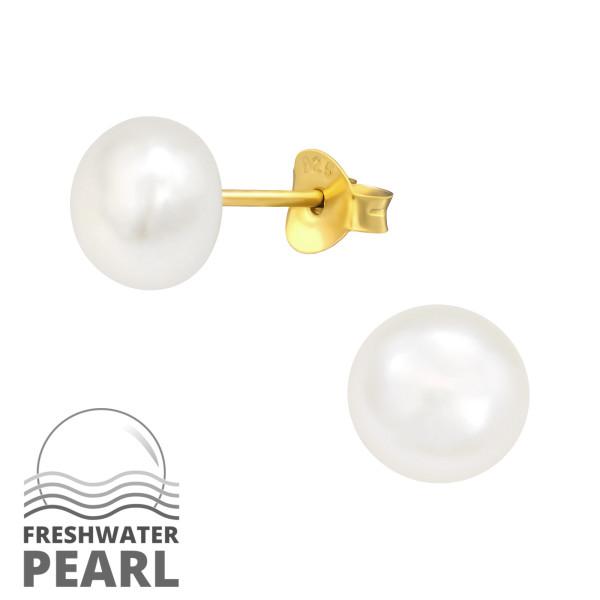 Pearl Ear Studs ES-JP5-FWP7 GP/41110