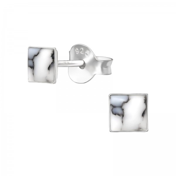 Plain Ear Studs ES-APS1407 SHELL/35852