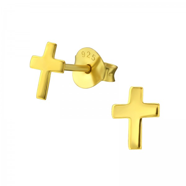 Plain Ear Studs ES-APS1501-FLAT GP/35398