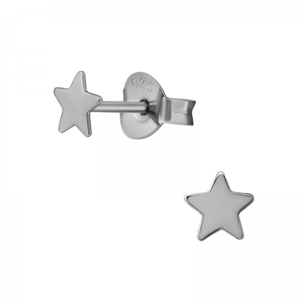 Plain Ear Studs ES-APS1598-FLAT BK/RU/20619