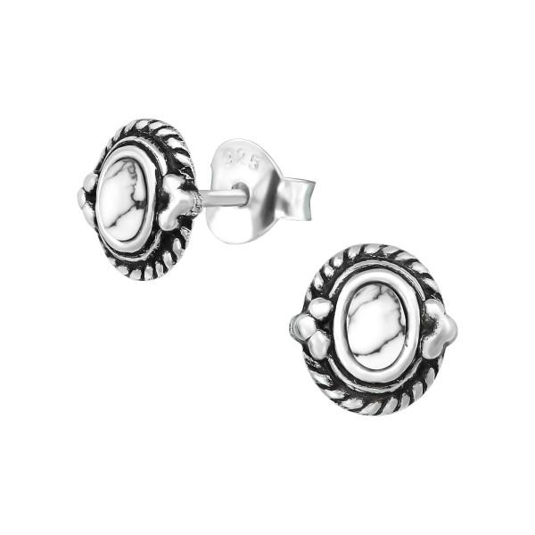 Plain Ear Studs ES-APS1727-SHELL OX/39339