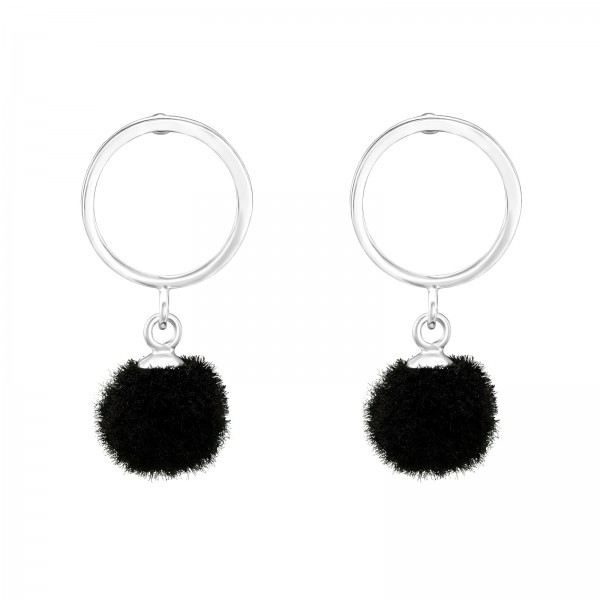 Plain Ear Studs ES-APS2517-A-FL-HP-JP3-POM-8 BK/37056