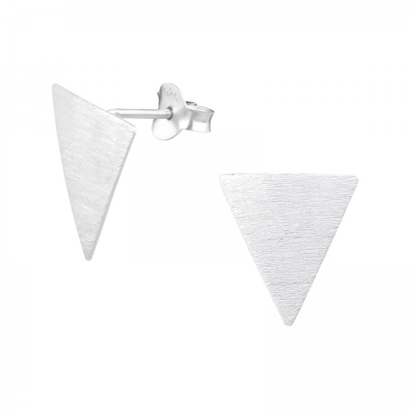 Plain Ear Studs ES-APS2525-FL-BR/33412