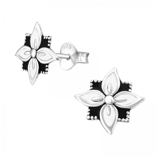 Plain Ear Studs ES-APS2761-OX WH/BK/39394