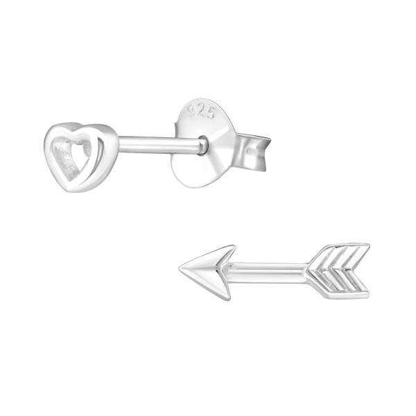 Plain Ear Studs ES-JB6097-JB6092/29005