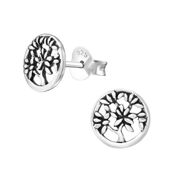 eb9bd9541 Silver Tree Of Life Ear Studs - 24787 | ELF925