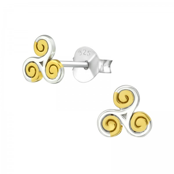 Plain Ear Studs ES-JB8488-2TGP/36668