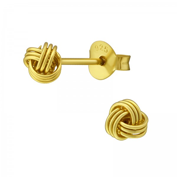 Plain Ear Studs ESJN-005-4 GP/33403