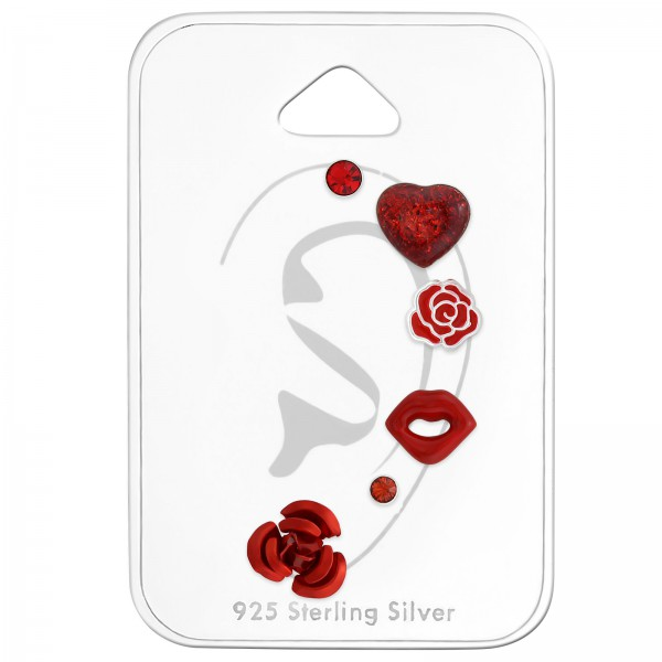 Sets & Jewelry on Cards ES-04 LT.SIAM/CCHT-36-GT RED/ES-APS1434 RED/ES-APS1496 RED/ES-03 INR/ES-FLOWER8 RED/33293