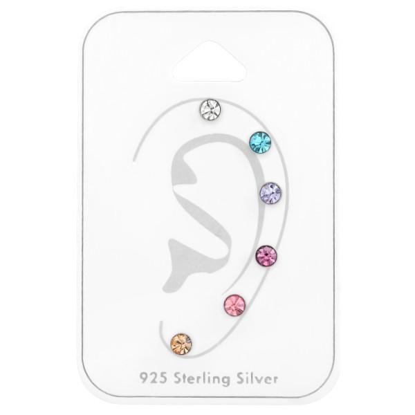 Sets & Jewelry on Cards ES-04X6 CRY/AQ/VIO/LT.AME/LT.RO/LT.PEA/35251