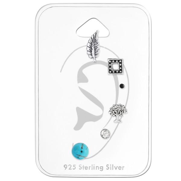 Sets & Jewelry on Cards ES-APS217 OX/ES-APS2470-OX/ES-02 JET/ES-APS2620 OX/ES-04 CRY/ESJP3-6MM TQ/33288