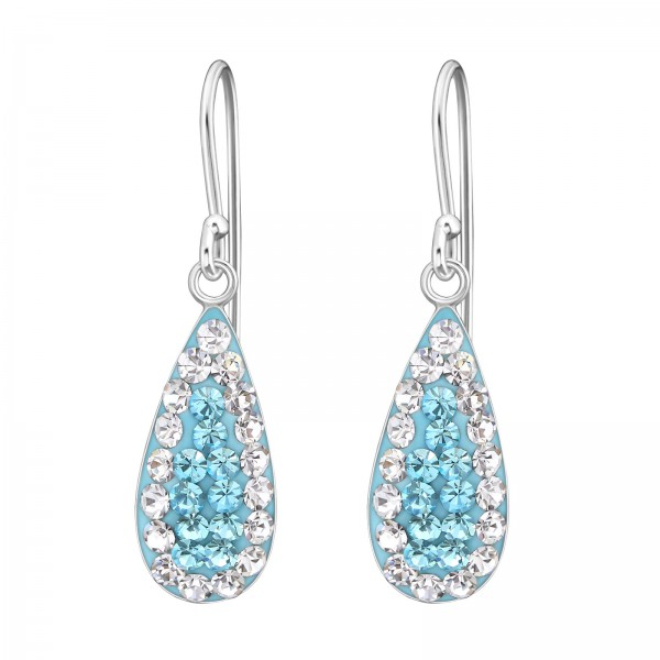 Crystal Earrings CCER-APS178 CRY/AQ//19052