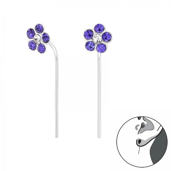 Crystal Earrings ER-APS1667-APS2424 TAN/CRY/32494