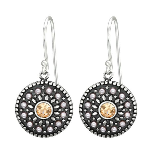 Crystal Earrings ER-JB8101-OX LT.PEACH/41037