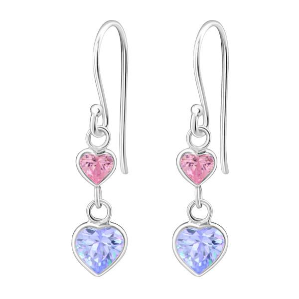 Cubic Zirconia Earrings CZA-403 PINK/LAV/814