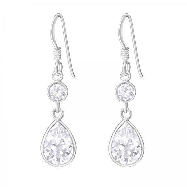 Cubic Zirconia Earrings CZA-4R/PS7X10/1385
