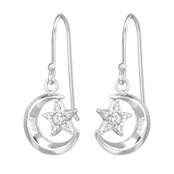 Cubic Zirconia Earrings ER-JB10068 RP/39534