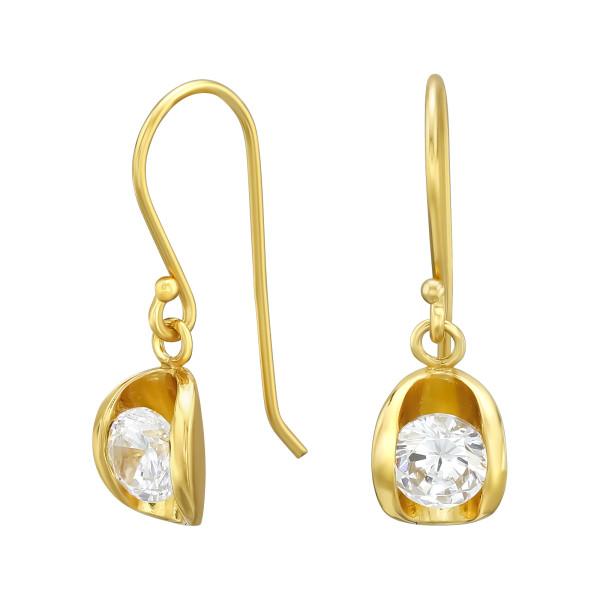 Cubic Zirconia Earrings ER-JB10790 GP/40114