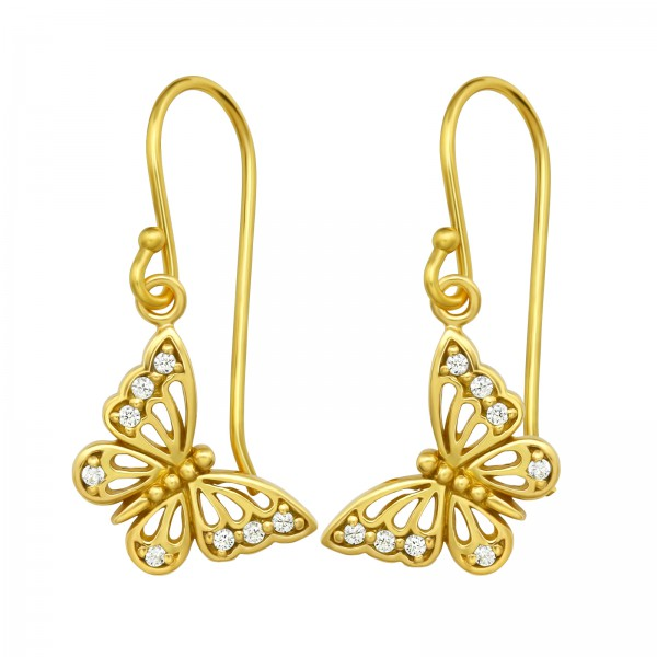Cubic Zirconia Earrings ER-JB12009 GP/40129