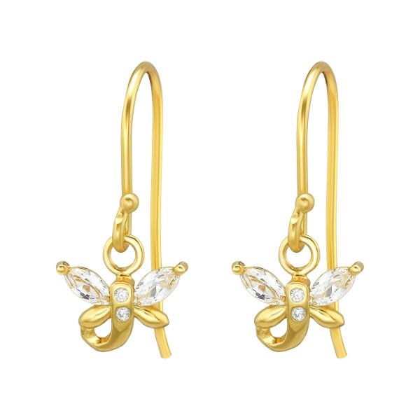 Cubic Zirconia Earrings ER-JB12295 GP/40130