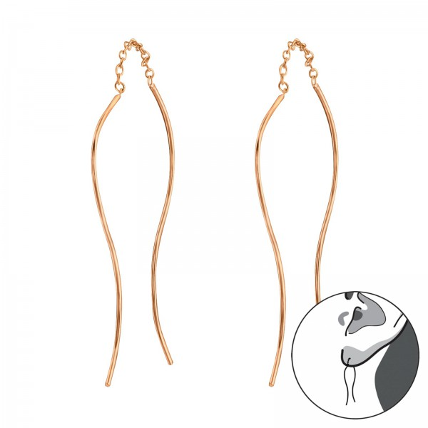 Plain Earrings ER-APS2407 RGP/31132