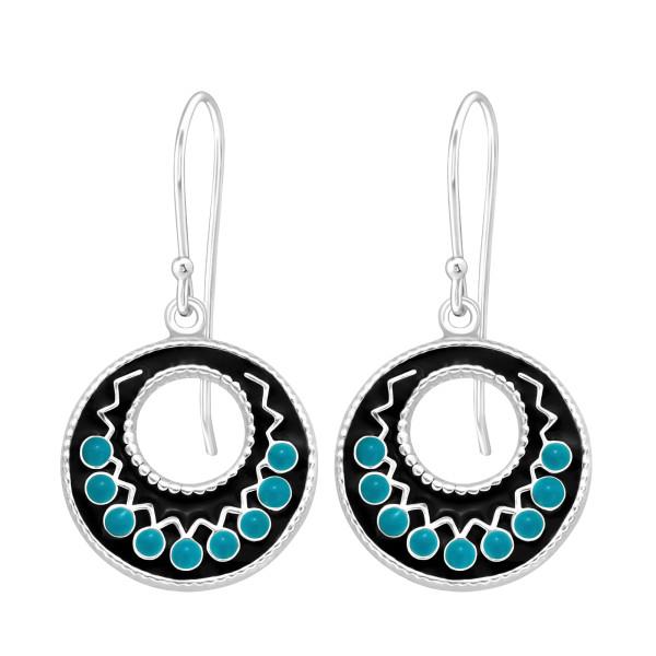Plain Earrings ER-APS2648 BL/BK/41040