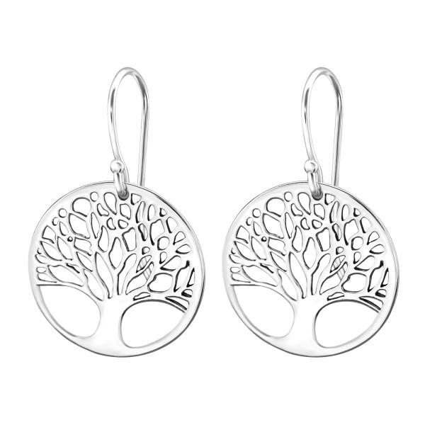 32a11e660 Silver Tree Of Life Earrings - 29428 | ELF925