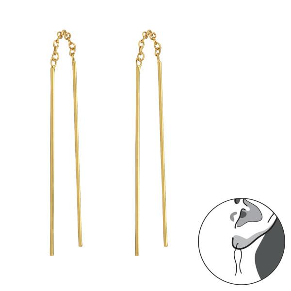 Plain Earrings WIRE-001 GP/31133