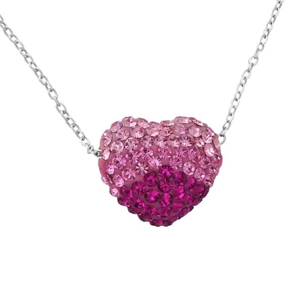 Jeweled Necklace FORZ-30-HT14 PK.MIX/18843
