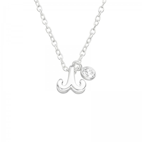 Jeweled Necklace FORZ25-BD-JB13428-TOP-CZA-R3-CRY/40162