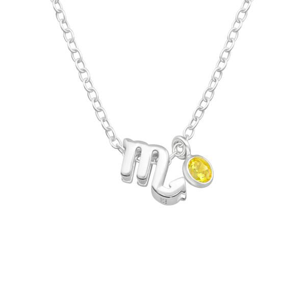 Jeweled Necklace FORZ25-BD-JB13431-TOP-CZA-R3-YEL/40178